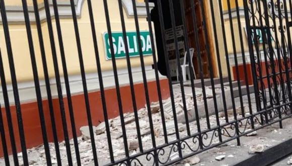Debido al movimiento la catedral de Piura fue afectada en su infraestructura. (Fotos: Correo Piura)