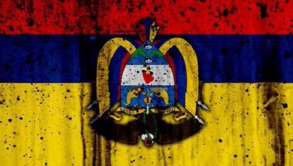 La bandera de Colombia al revés se ha vuelto un símbolo de denuncia contra el derramamiento de sangre en las protestas. (Imagen: Twitter de @JBalvin)
