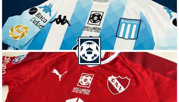 Esta es la insignia que usarán Racing Club e Indepediente en homenaje a la ciudad de Avellaneda.