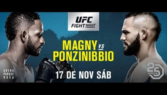 Neil Magny vs. Santiago Ponzinibbio se miden en el UFC Fight Night Argentina. (Foto: UFC)