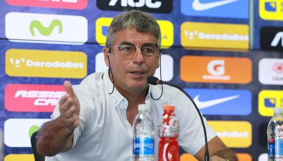 Pablo Bengoechea se despidió de Alianza Lima en conferencia. (Foto: GEC)