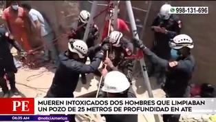 Ate: mueren ahogados dos hombres que limpiaban un pozo de 25 metros de profundidad