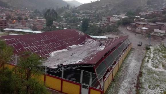 Cusco: lluvia y granizada causan varios daños en Paruro