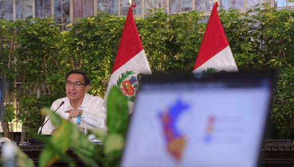 El presidente Martín Vizcarra se refirió a las negociaciones del Estado y las clínicas privadas. (Foto: Presidencia de la República)