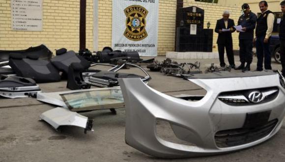 Más de 3.300 vehículos fueron robados o perdieron piezas