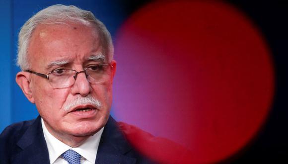 El ministro de Relaciones Exteriores palestino Riyad al Maliki. (Foto: HANNIBAL HANSCHKE / POOL / AFP).