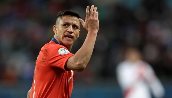 Alexis Sánchez se recupera de lesión y estaría ante Perú. (Foto: EFE)