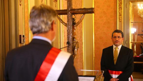 Rubén Vargas duró 14 días en el despacho del Interior (Foto: Presidencia de la República)
