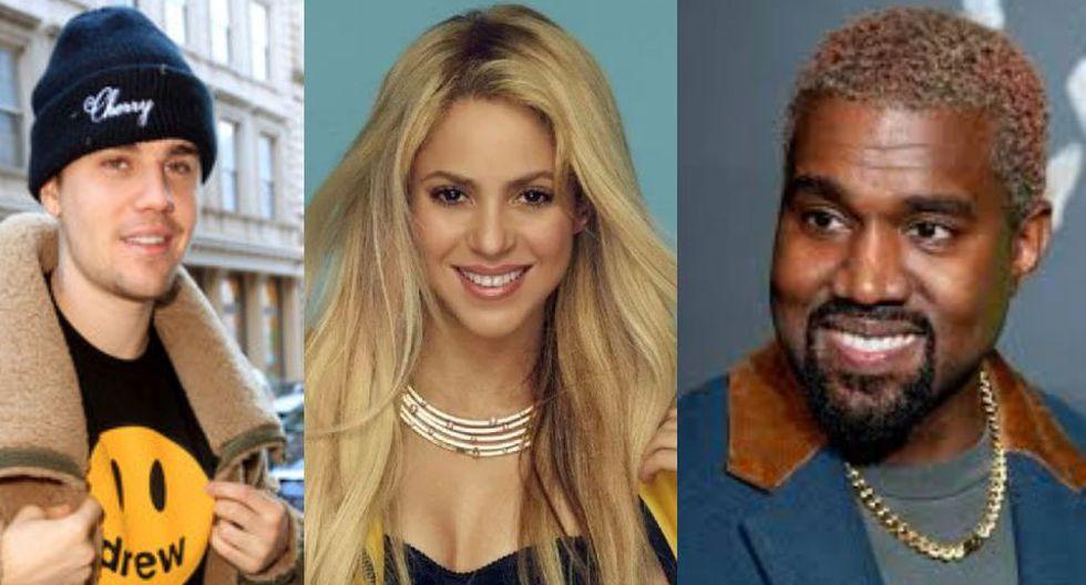 Shakira, Justin Bieber, Kanye West fusionaron la música con la moda (Foto: GEC)