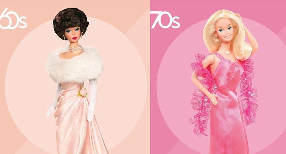 En las décadas de los 60's y 70's, el rostro de la Barbie se caracterizaba por ser de rasgos finos, además de tener bien acentuado el maquillaje. Además, los looks destacaban por ser glamorosos y en su mayoría de fiesta. (Fotos: Instagram/ @barbie)