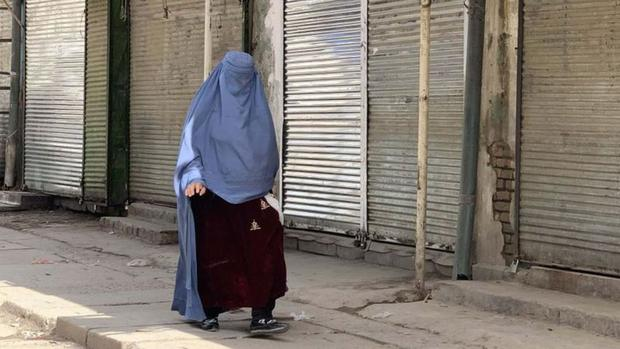 Women's clothing is severely guarded by the Taliban. (Getty Images).