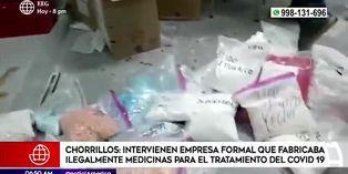 Chorrillos: intervienen empresa formal que fabricaba ilegalmente medicinas