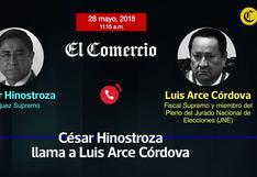 """César Hinostroza: nuevo audio muestra que buscaba que """"Soto"""" pueda tener llegada al ROP"""
