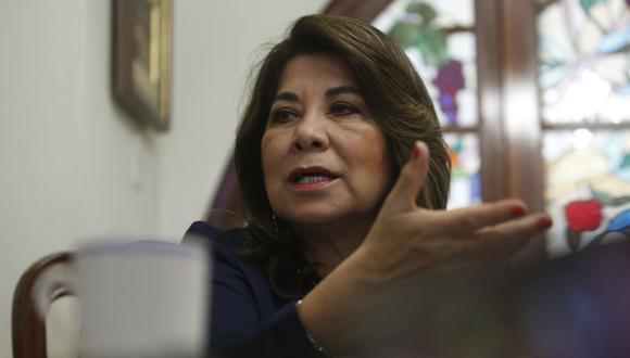"""Martha Chávez considera que el fiscal José Domingo Pérez quiere """"neutralizar"""" al partido Fuerza Popular, por el que ella postula al Congreso por Lima. (Foto: GEC)"""