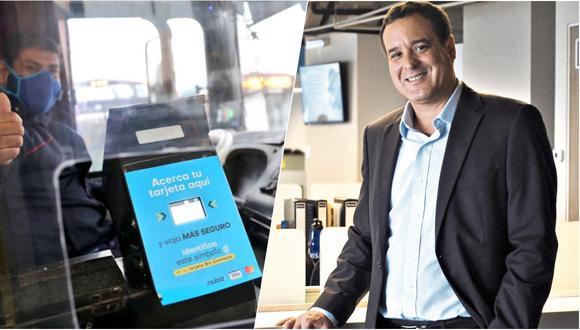 Diego Conroy, gerente general de Niubiz, precisa que la empresa ya tiene implementado su sistema de pago sin contacto en más de 140 buses en la capital.