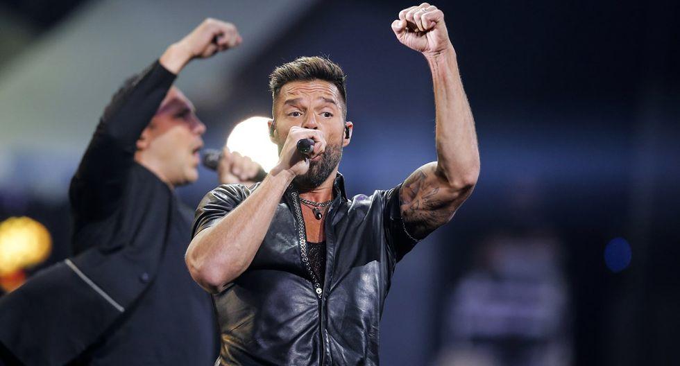Ricky Martin se presentó en la primera fecha de Viña del Mar 2020, edición en la que no faltaron las protestas del 'Monstruo' por la situación política y social en Chile. (Foto: AFP)