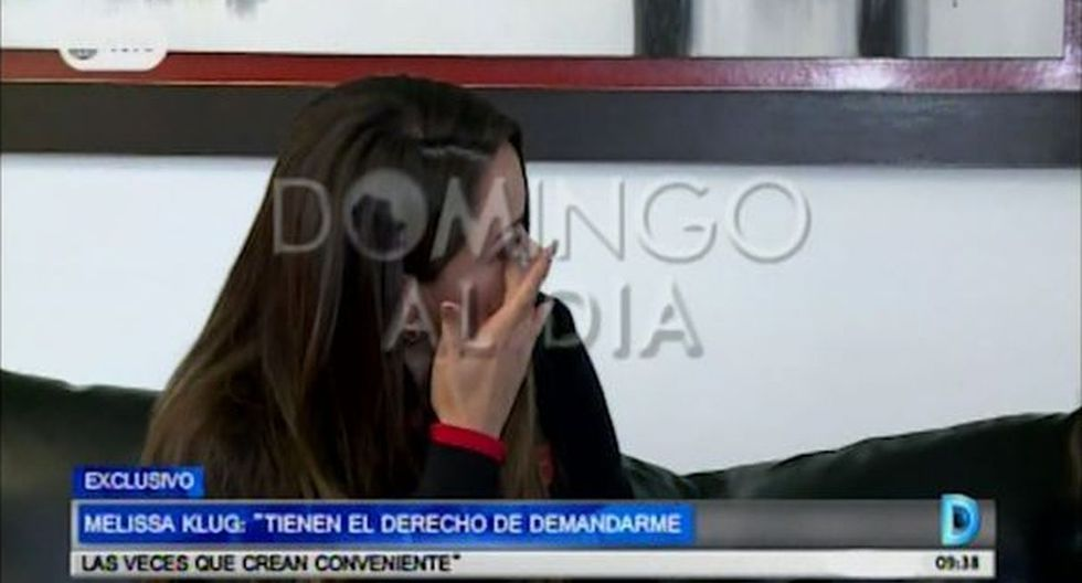 Melissa Klug rompe en llanto al hablar de sus hijos con Jefferson Farfán. (Foto: Captura de video)