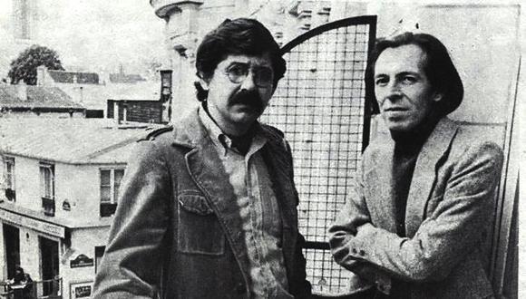 Alfredo Bryce Excenique en París, al lado de su entrañable amigo, Julio Ramón Ribeyro.