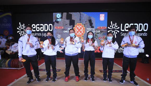 Los seis peruanos medallistas en el mundial. (Foto: Legado Lima 2019)