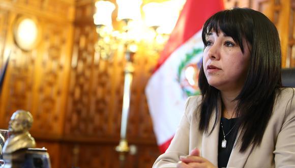 Mirtha Vásquez se pronunció sobre la candidatura de Vizcarra al Congreso. (FOTO: ALESSANDRO CURRARINO/EL COMERCIO)