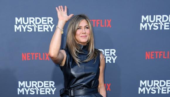 Jennifer Aniston tuvo un peculiar gesto contra el coronavirus. (Foto: AFP)