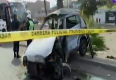 Comas: un fallecido y al menos siete heridos deja choque de bus contra automóvil en Av. Universitaria