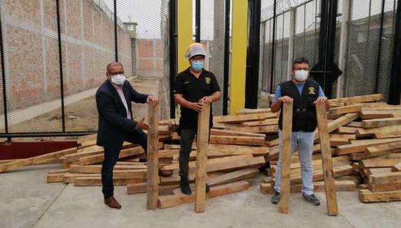 Tumbes: internos producirán nuevos artículos con más de 300 troncos de madera Guayacán y Zapote (Foto: INPE)