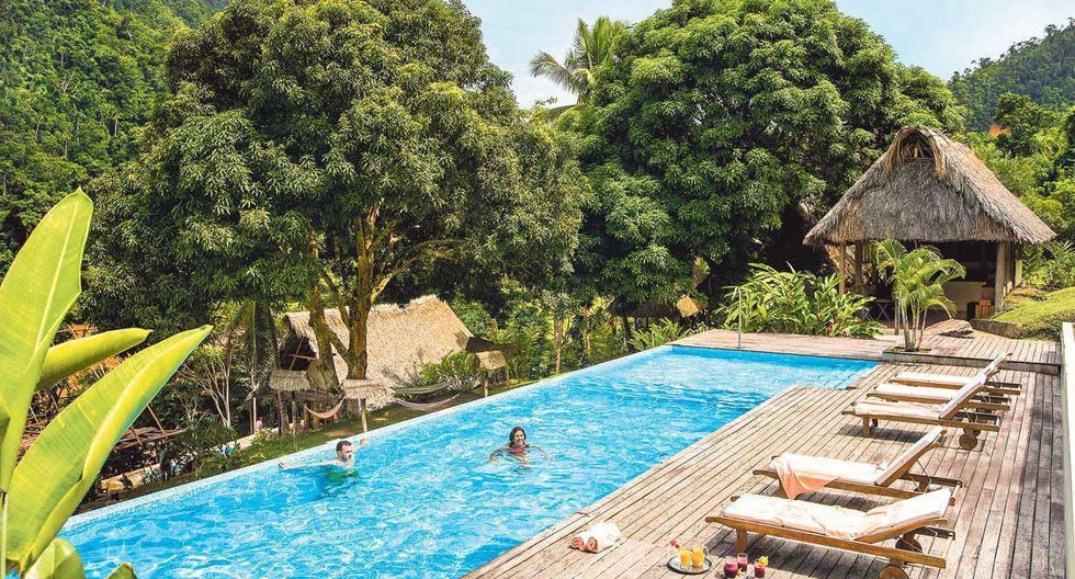 Pumarinri Amazon Lodge se encuentra a orillas del río Huallaga. Cuenta con catorce habitaciones con balcones y terrazas.