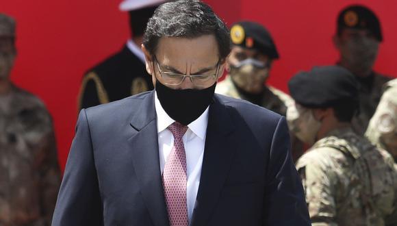 Martín Vizcarra afronta una acusación constitucional por el caso 'Vacunagate' . (Foto: Britanie Arroyo)