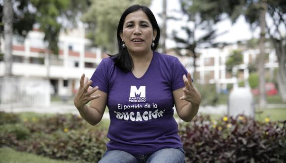Flor Pablo fue ministra de Educación durante el gobierno de Vizcarra. Dejó el cargo en febrero de 2020, un mes antes del inicio de la llegada del COVID-19 al Perú. (Foto: Anthony Niño de Guzmán | El Comercio)