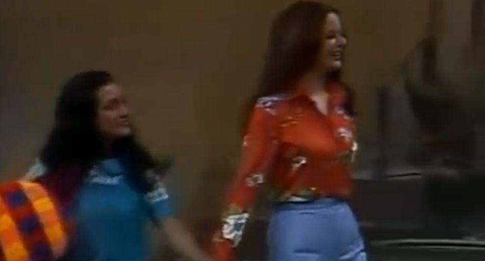 La actriz Olivia Leyva en una escena de El Chavo del Ocho.