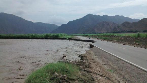 Ascope: Río Chicama destruye parte de la carretera