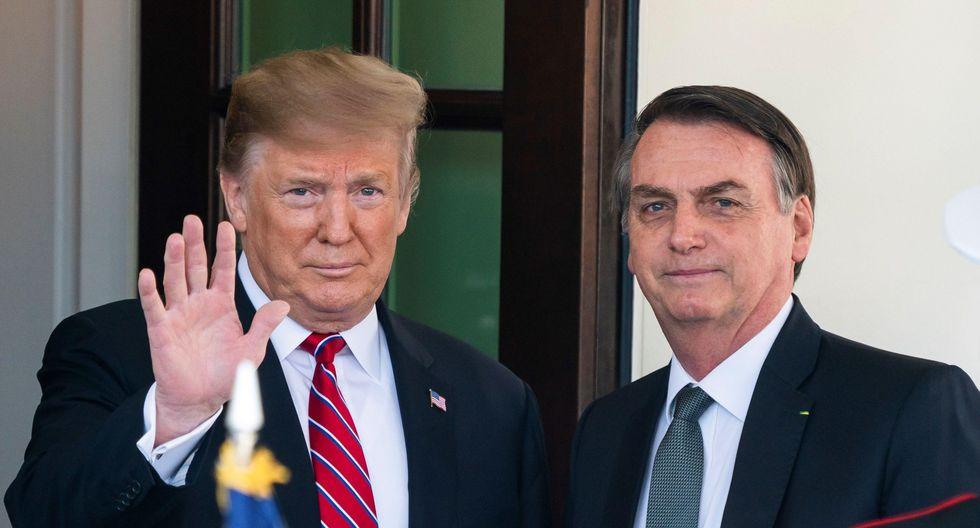 """Donald Trump recibe a Jair Bolsonaro: Estadounidense reafirma que evalúa """"todas las opciones"""" en Venezuela. (EFE)."""