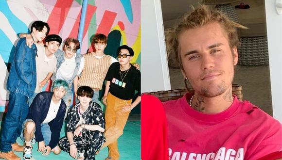 BTS Y Justin Bieber podrían trabajar juntos en una nueva canción. (Foto: @bts.bighitofficial/@justinbieber)