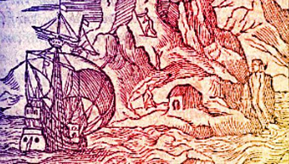 Destino: América. El libro tiene varias ilustraciones, atribuidas a Jean Cousin, quien interpretó las descripciones del fraile, algunas de ellas de segunda mano.
