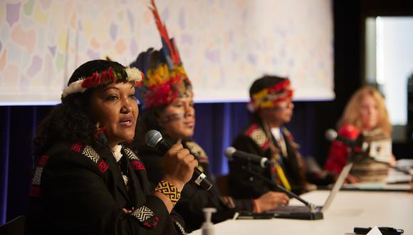Por primera vez los pueblos indígenas participaron con su voto en las decisiones del Congreso de la UICN- Foto: UICN.