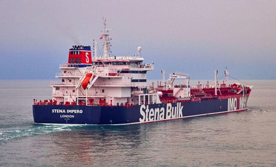Según los informes del 19 de julio de 2019, el Cuerpo de la Guardia Revolucionaria de Irán (IRGC) afirma haber secuestrado a Stena Impero en el Estrecho de Ormuz con 23 tripulantes a bordo. (Foto: EFE)