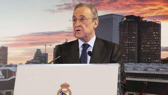 Florentino Pérez, presidente del Real Madrid, ya está pensando en el equipo que armará para la próxima temporada. (Foto: EFE)