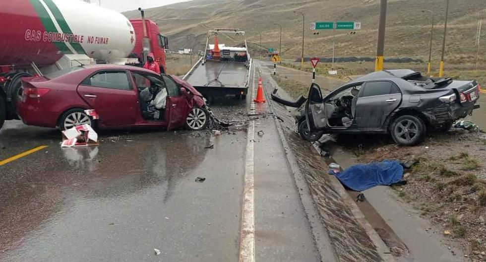 Siete personas murieron en un trágico choque de taxis colectivos en la Carretera Central (Fotos: Policía Nacional del Perú)