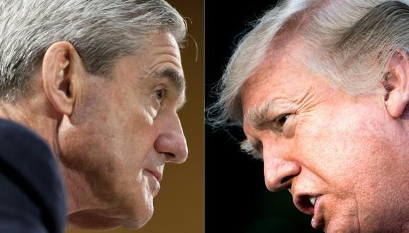 El exdirector del FBI Robert Mueller y el presidente de los Estados Unidos, Donald Trump. (Foto: AFP)