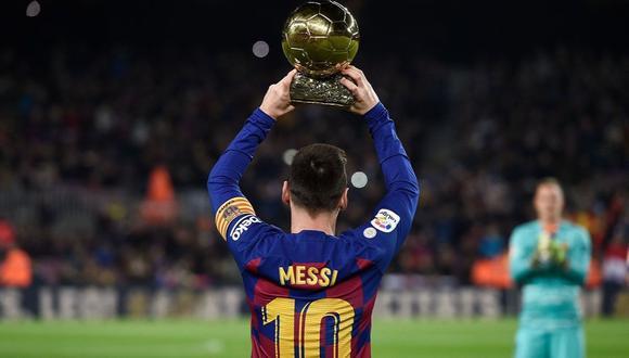 Lionel Messi ganó el Balón de Oro en seis ocasiones: 2009, 2010, 2011, 2012, 2015 y 2019.