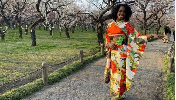 La jamaicana Danielle Thomas, de 28 años, llegó a Japón en 2016. (Foto: DANIELLE THOMAS, vía BBC Mundo).