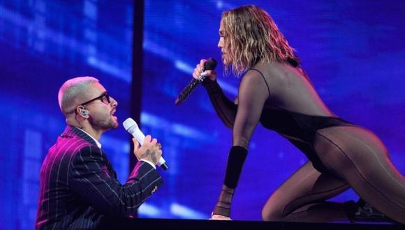 Jennifer Lopez y Maluma en los American Music Awards 2020. (Foto: @amas)