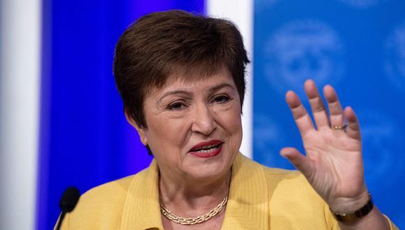 Kristalina Georgieva no adelantó cifras este martes antes de la publicación la próxima semana del informe de Perspectivas de la Economía Mundial. (Foto: AFP)