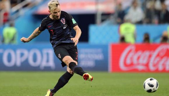 El mediocampista de Croacia sentenció la serie ante Dinamarca con un penal que no pudo ser bloqueado por Kasper Schmeichel, figura luego de bloquear otros tres disparos. (Foto: AFP)