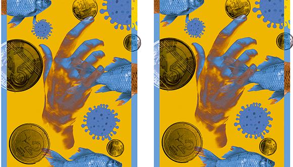"""""""Al menos hasta ahora, el Estado está teniendo mucho más problemas en asegurar que estos recursos lleguen a donde deben –personas, empresas, compras de salud, etc.– que en encontrar más fondos"""". (Ilustración: Giovanni Tazza)."""