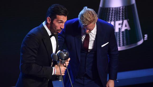 El veterano portero italiano fue galardonado por su excelente temporada 2016-2017. Fue Campeón de la Serie A en Italia y subcampeón de Europa. (Foto: AFP)