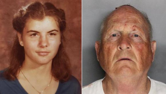 Janelle Cruz y su supuesto violador y asesino, Joseph James DeAngelo. (Foto: Cortesía de Michelle Cruz White/Sacramento Sheriff).