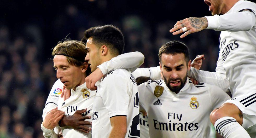 Real Madrid vs. Real Betis: mira el golazo de Luka Modric para el 1-0 del cuadro merengue | Foto: EFE