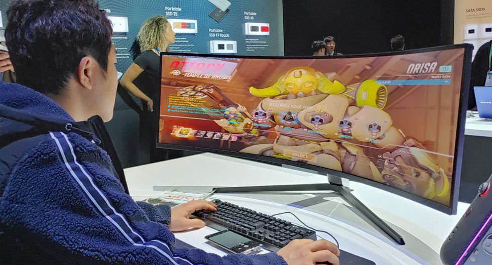 El Odyssey G9 es el nuevo monitor gaming de Samsung. (Foto: Martín Tumay)